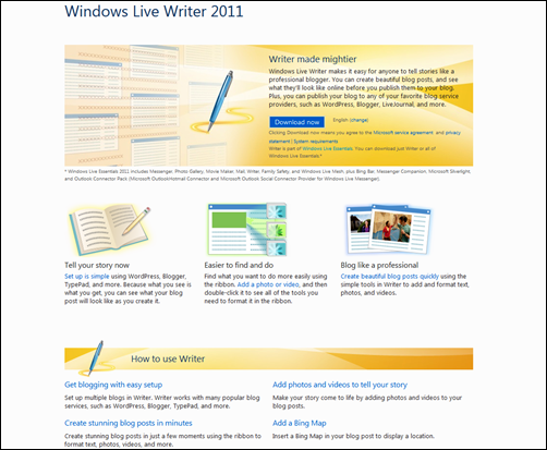 Live Writer download
