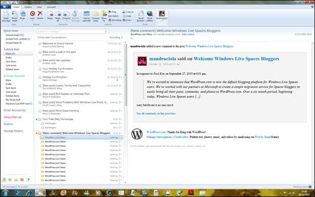 WLM showing conversation view